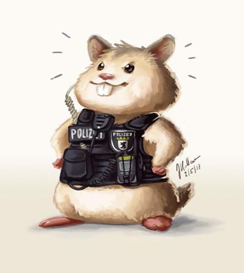хомячок-полицейский