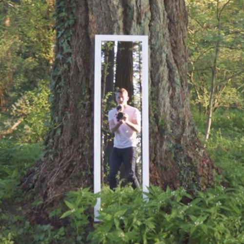 иллюзия с зеркалом в лесу