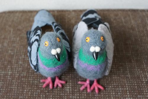 туфли в виде голубей