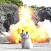 фотосессия на фоне взрыва