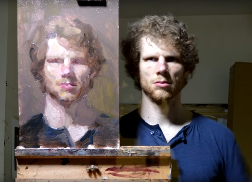 автопортрет перед зеркалом
