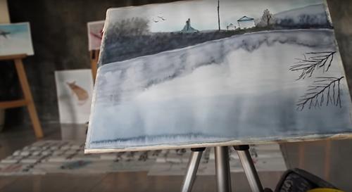 талантливый художник без рук и ног