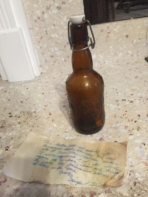 письмо в бутылке нашло адресата