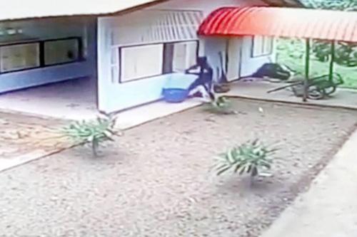 грабитель ломился в открытый гараж