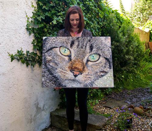 портреты животных из бисера