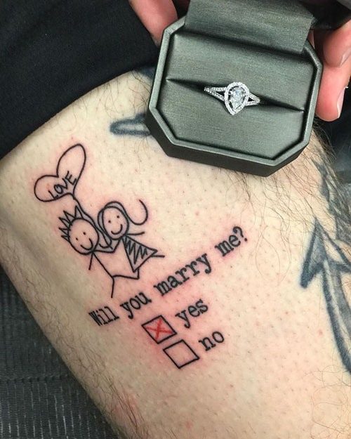 татуировка с предложением