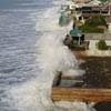 прилив добрался до домов