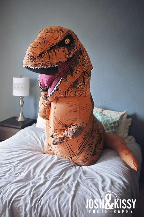 фотосессия с динозавром