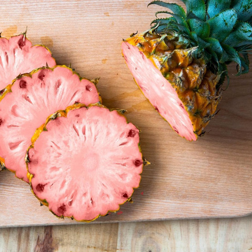 розовые ананасы