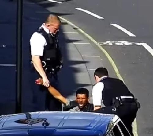 полицейские дверью ударили вора