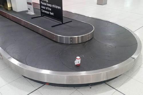 банка пива в багаже