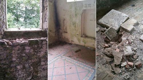 беспорядок в заброшенной церкви