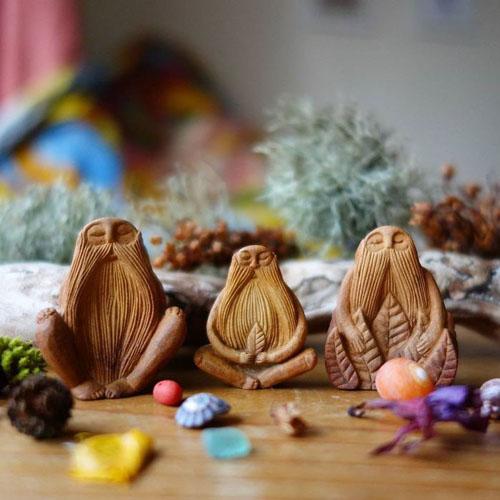 фигурки из косточек авокадо