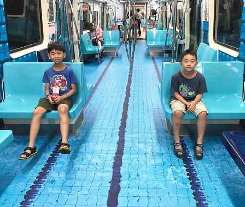 необычный дизайн вагонов метро