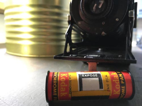 в фотоаппарате нашли старую плёнку