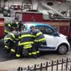 пожарные подвинули машину
