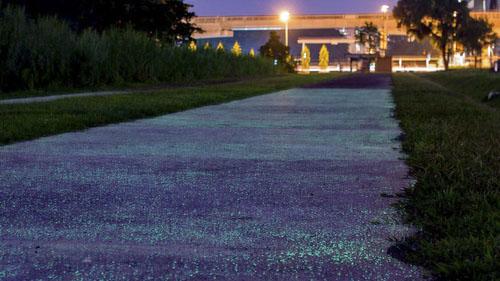 дорога светится по ночам