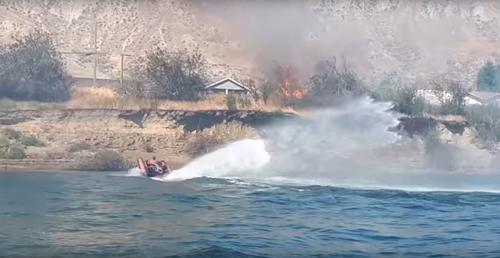 моторка как средство пожаротушения