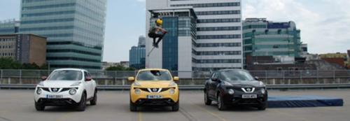 прыжок через три автомобиля