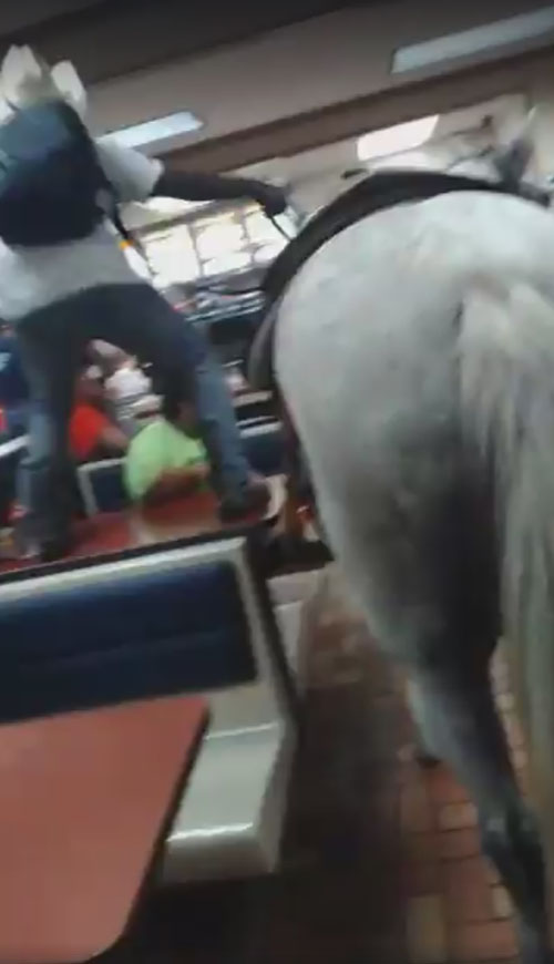 весёлый ковбой станцевал на столе