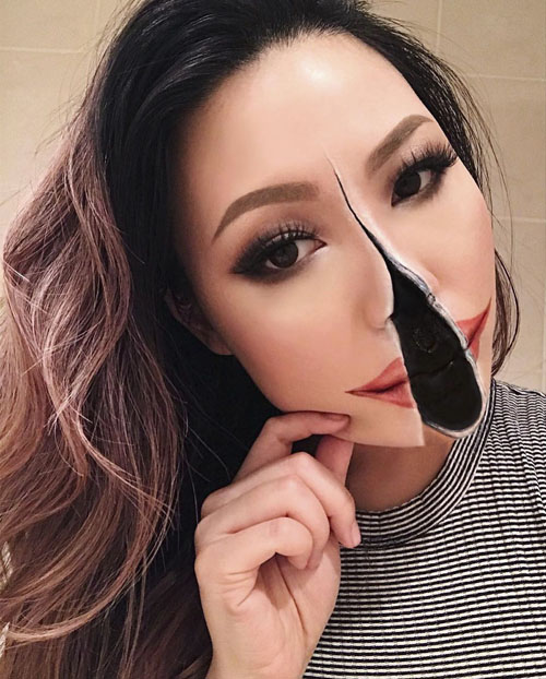 иллюзии с помощью макияжа