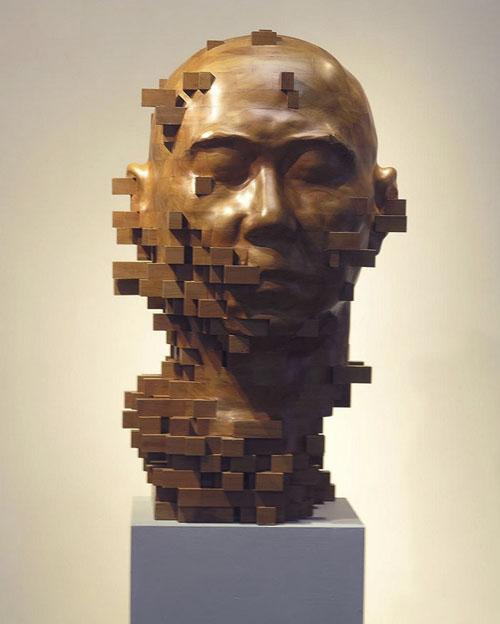 пикселизованные скульптуры