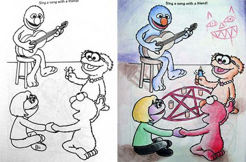 раскраски в руках взрослых