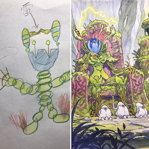 аниме из детских рисунков