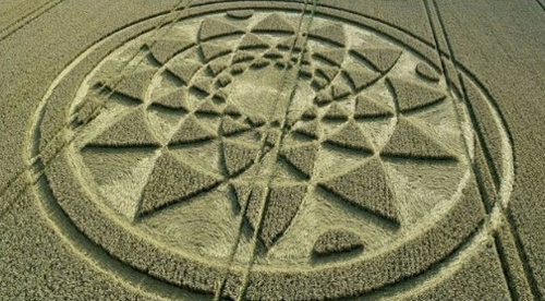 загадочный круг на поле
