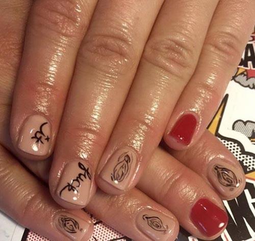 необычные узоры на ногтях