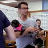 фитнес-класс в приюте для собак