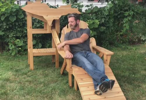кресло для любителя пива