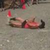 бегунья катилась до финиша