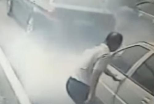водительница потушила машину