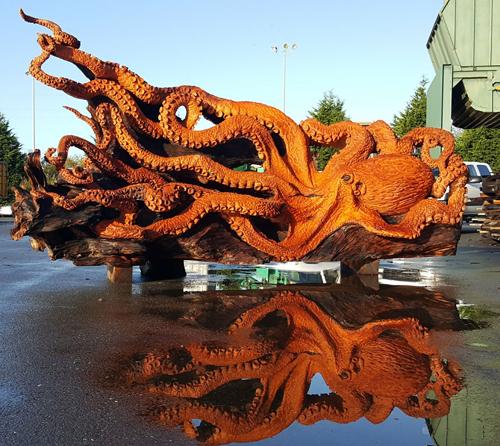 осьминог из упавшего дерева