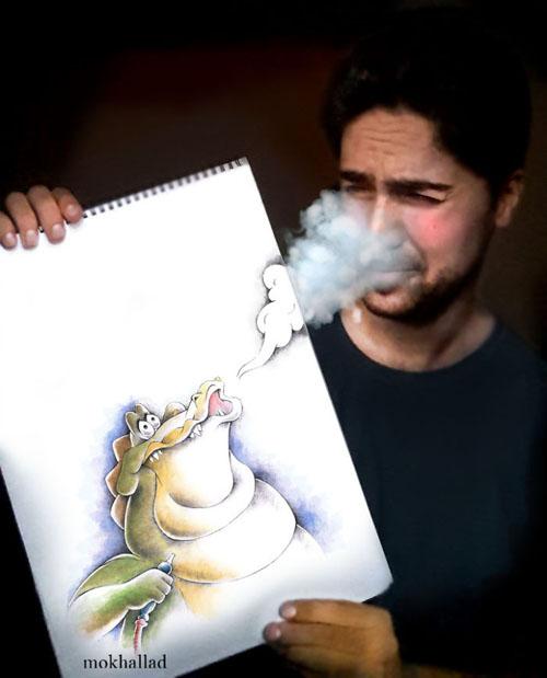 фармацевт рисует забавные картины