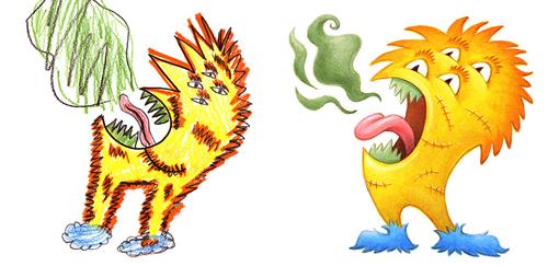 детские рисунки монстров