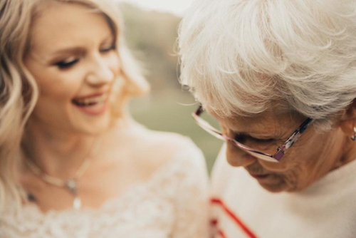 невеста в бабушкином платье