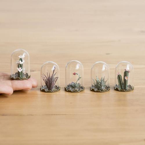 миниатюрные бумажные растения