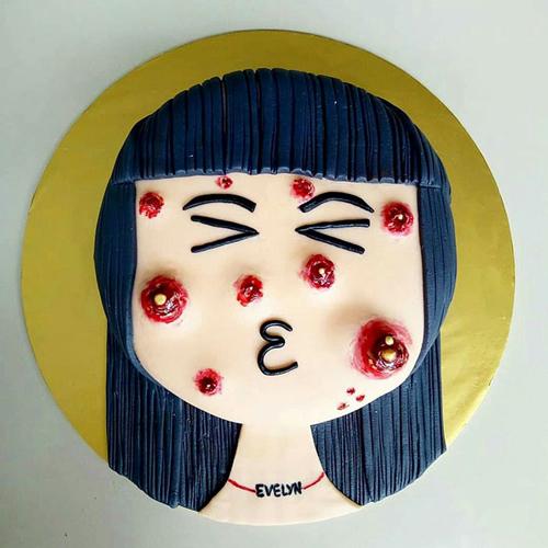 вкусный прыщавый торт