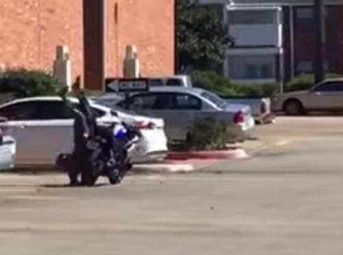 плохой урок езды на мотоцикле