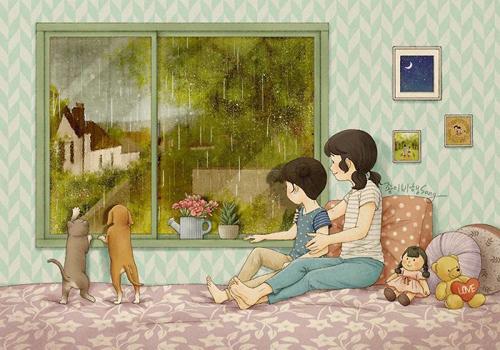 рисунки про дружбу с сестрой