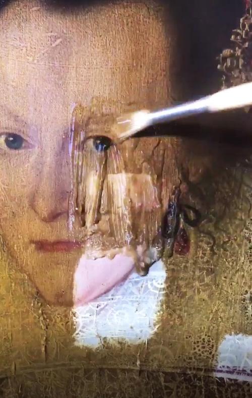 реставрация 399-летней картины
