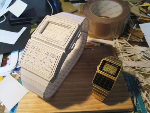 наручные часы из бумаги