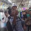 змея покаталась на поезде