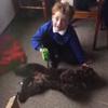 мальчик-аутист дружит с щенком