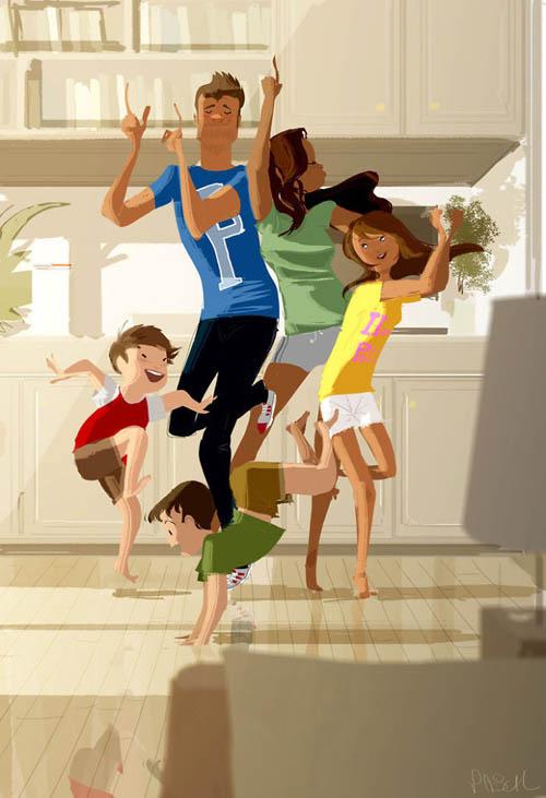 рисунки учат ценить любовь и семью