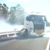 грузовик чуть не вызвал аварию