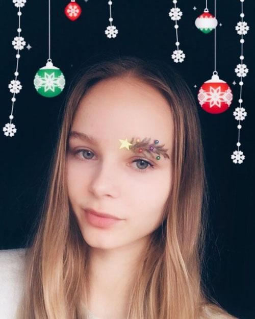 празднично украшенные брови
