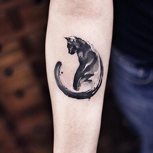татуировки как акварельные рисунки